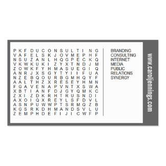 tarjeta de visita de la búsqueda de la palabra