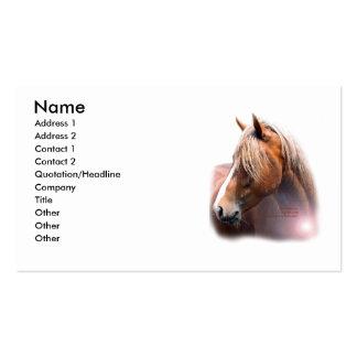 Tarjeta de visita de la cabeza de caballo