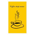 Tarjeta de visita de la cafetería