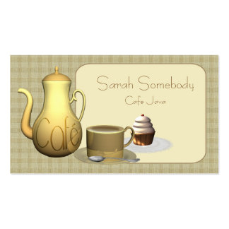 Tarjeta de visita de la cafetería o del café