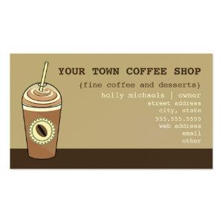 Tarjeta de visita de la cafetería - taza de café a
