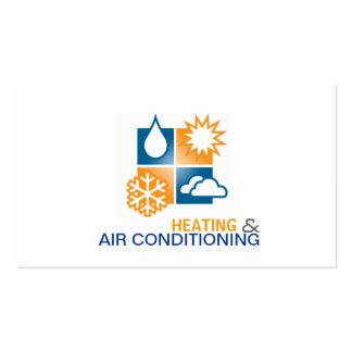 Tarjeta de visita de la calefacción y del aire
