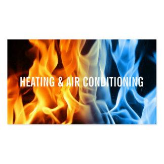 Tarjeta de visita de la calefacción y del aire aco