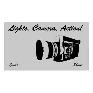 Tarjeta de visita de la cámara de película del vin