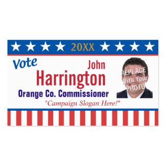Tarjeta de visita de la campaña política (voto)