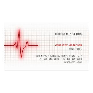 Tarjeta de visita de la cardiología de la señal de