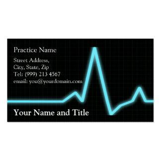tarjeta de visita de la cardiología