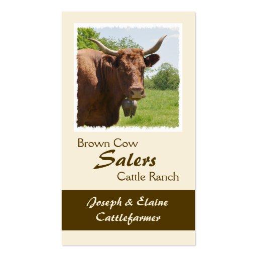 Tarjeta de visita de la carne de vaca de Salers y