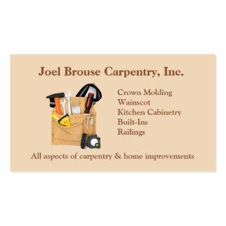 Tarjeta de visita de la carpintería de Brouse