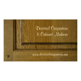 Tarjeta de visita de la carpintería o de la fabric