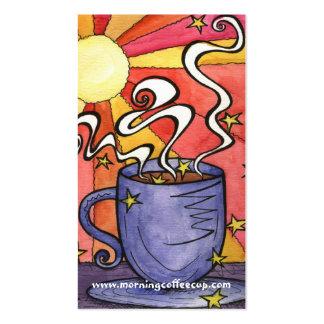 Tarjeta de visita de la casa de la taza de café de