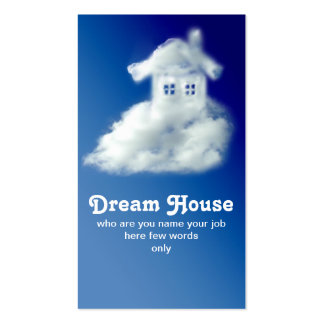 tarjeta de visita de la casa para el agente
