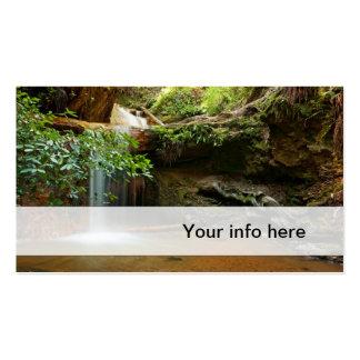 Tarjeta de visita de la cascada