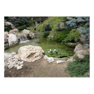 Tarjeta de visita de la cascada y de la foto de lo