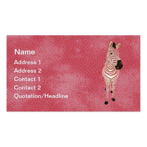 Tarjeta de visita de la cebra del Grunge/etiquetas