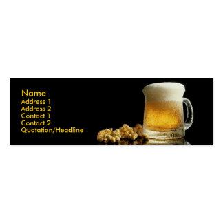 Tarjeta de visita de la cerveza