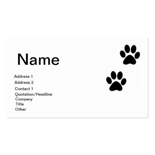 Tarjeta de visita de la chihuahua