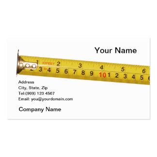 tarjeta de visita de la cinta métrica