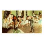 Tarjeta de visita de la clase de danza