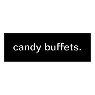 Tarjeta de visita de la comida fría del caramelo