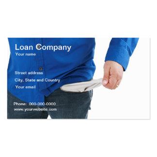 Tarjeta de visita de la compañía de préstamos
