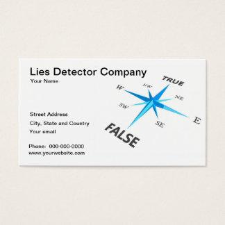 Tarjeta de visita de la compañía del detector de m