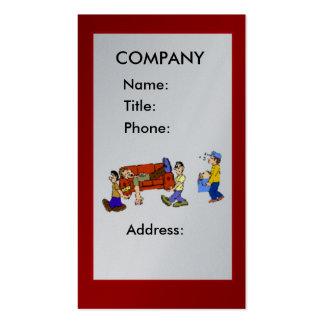 Tarjeta de visita de la compañía móvil