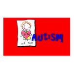 Tarjeta de visita de la conciencia del autismo