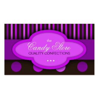 Tarjeta de visita de la confitería de los chocolat