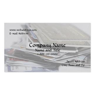 Tarjeta de visita de la consolidación de deuda