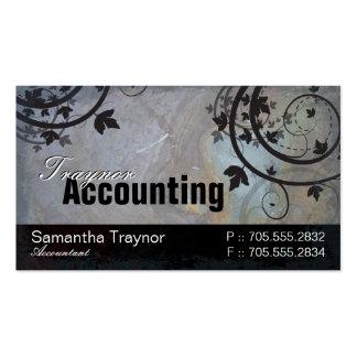 Tarjeta de visita de la contabilidad - roca y vide