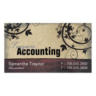 Tarjeta de visita de la contabilidad - tablero del