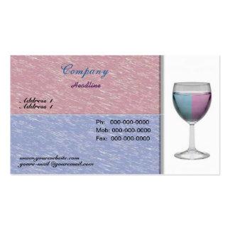 Tarjeta de visita de la copa de vino