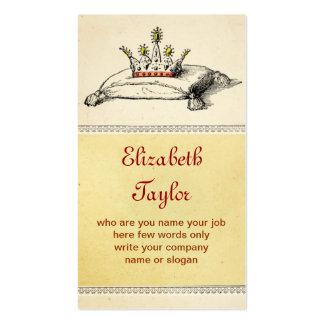 tarjeta de visita de la corona