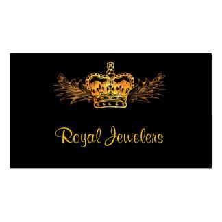 Tarjeta de visita de la corona del oro