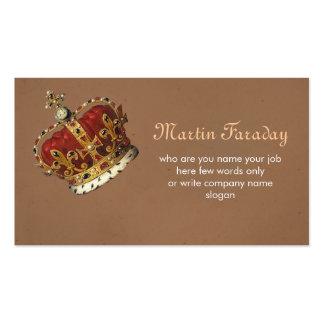 tarjeta de visita de la corona del rey de los