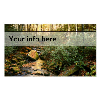 Tarjeta de visita de la corriente del otoño