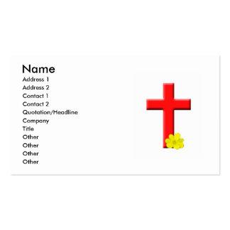 Tarjeta de visita de la Cruz Roja