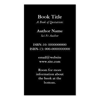 Tarjeta de visita de la cubierta de libro