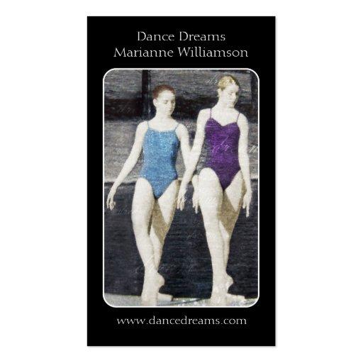 Tarjeta de visita de la danza del ballet
