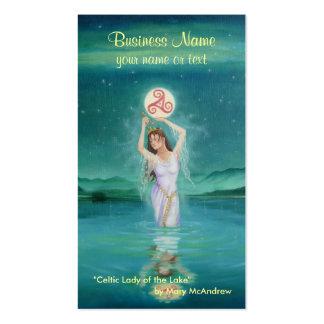 Tarjeta de visita de la diosa/señora céltica del l