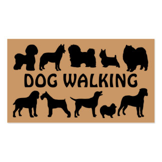 Tarjeta de visita de la diversión del perro que ca