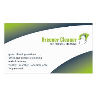 tarjeta de visita de la Eco-limpieza