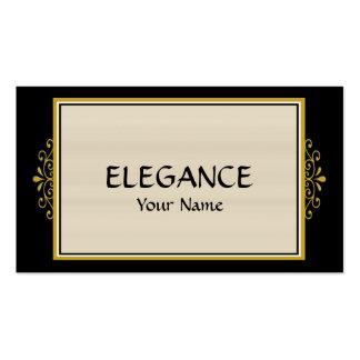 Tarjeta de visita de la elegancia