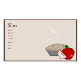 Tarjeta de visita de la empanada de Apple del país