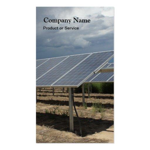 Tarjeta de visita de la energía solar