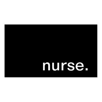 Tarjeta de visita de la enfermera