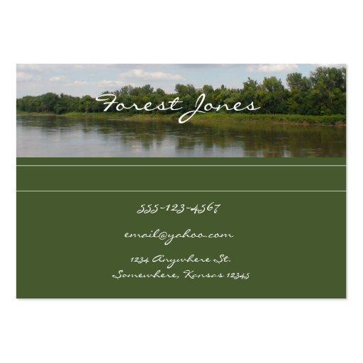 Tarjeta de visita de la escena del río