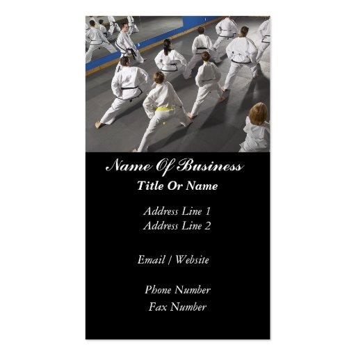 Tarjeta de visita de la escuela de artes marciales