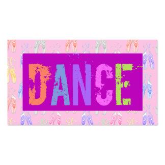 Tarjeta de visita de la escuela de danza